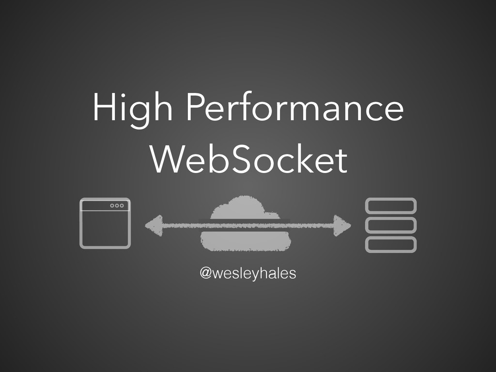 High Performance WebSocket @wesleyhales
