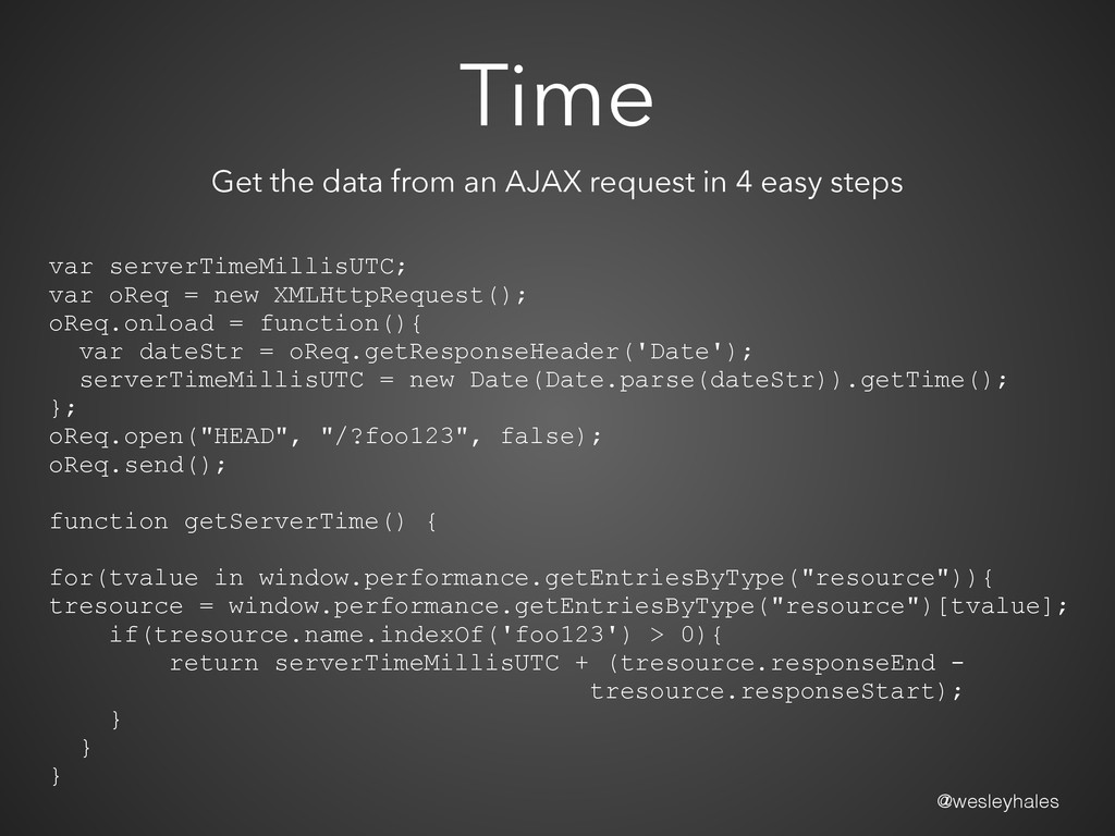 @wesleyhales Time Get the data from an AJAX req...