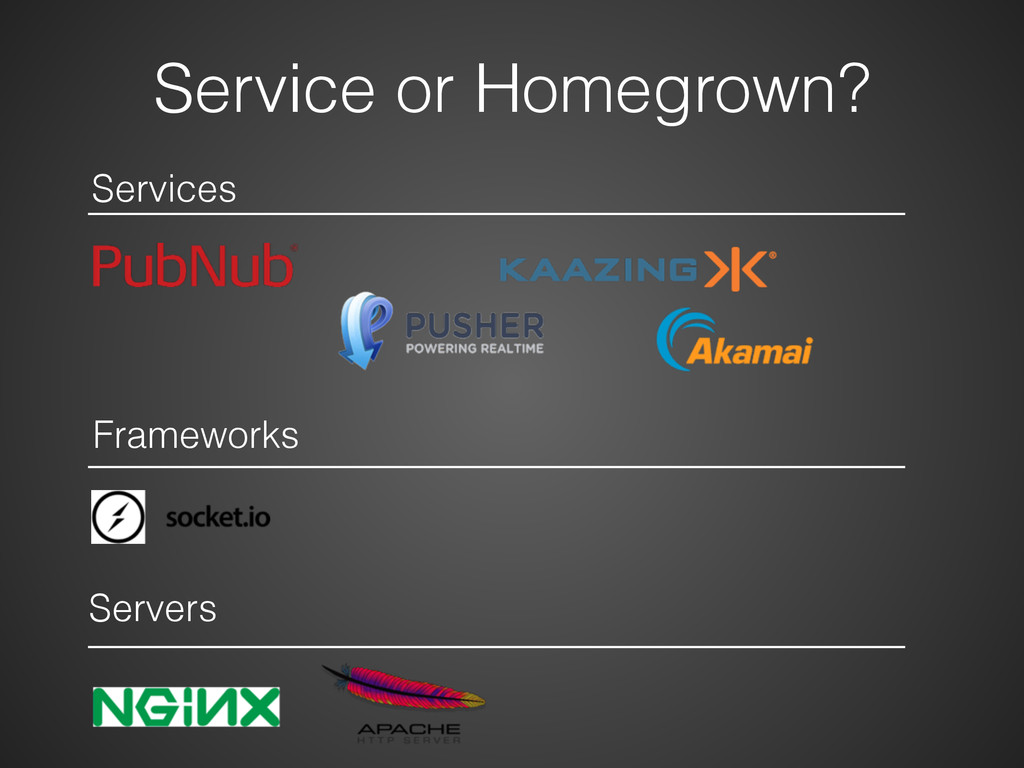 Service or Homegrown? Services Frameworks Serve...