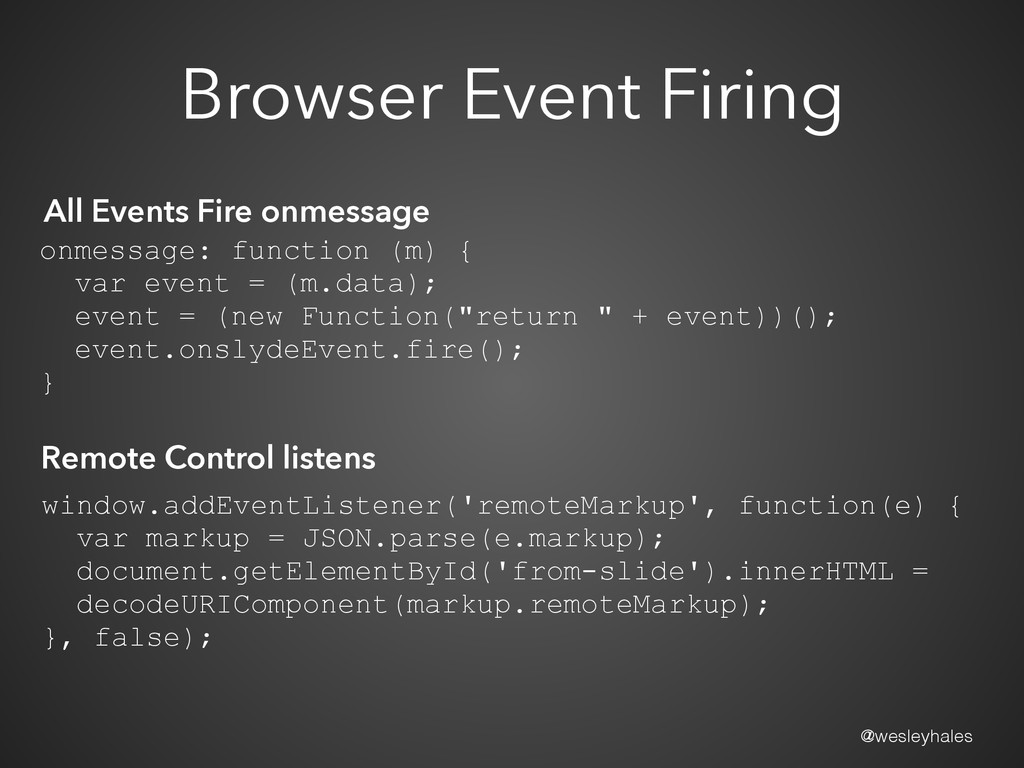 @wesleyhales Browser Event Firing All Events Fi...
