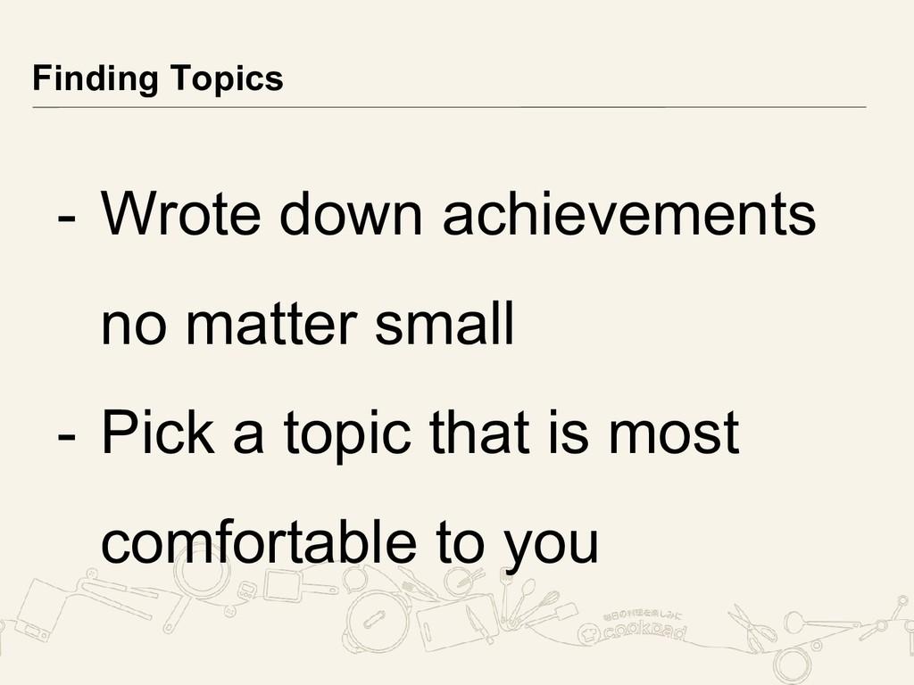 - Wrote down achievements no matter small - Pic...