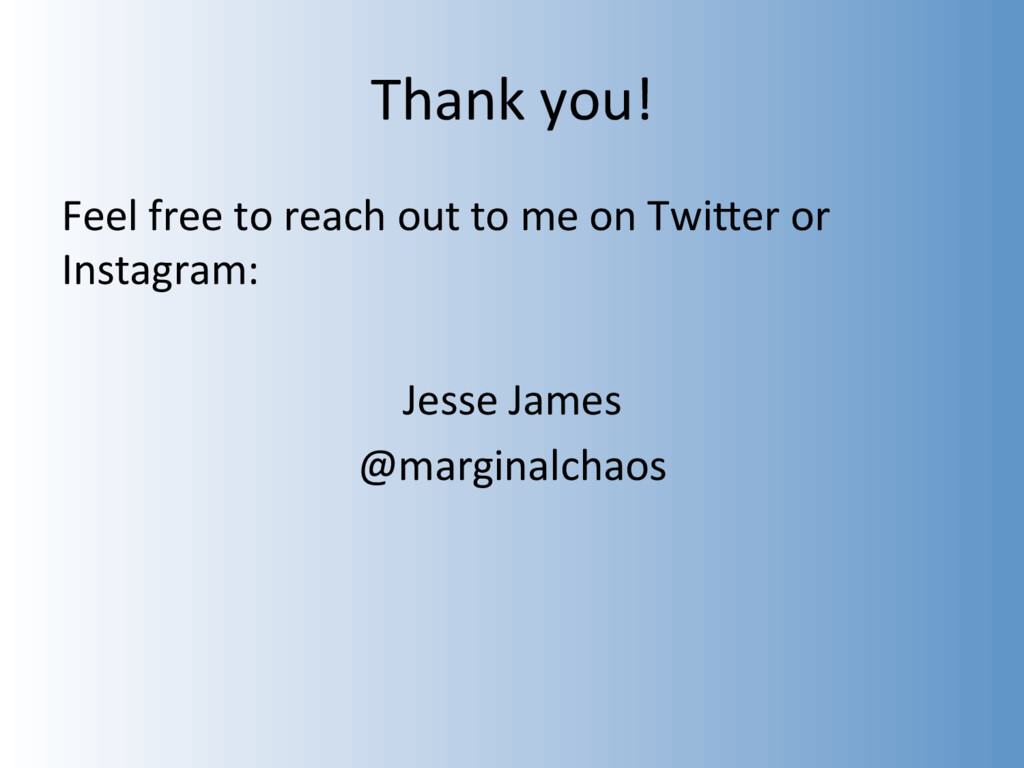 Thank you! Feel free to reach out to me on TwiW...