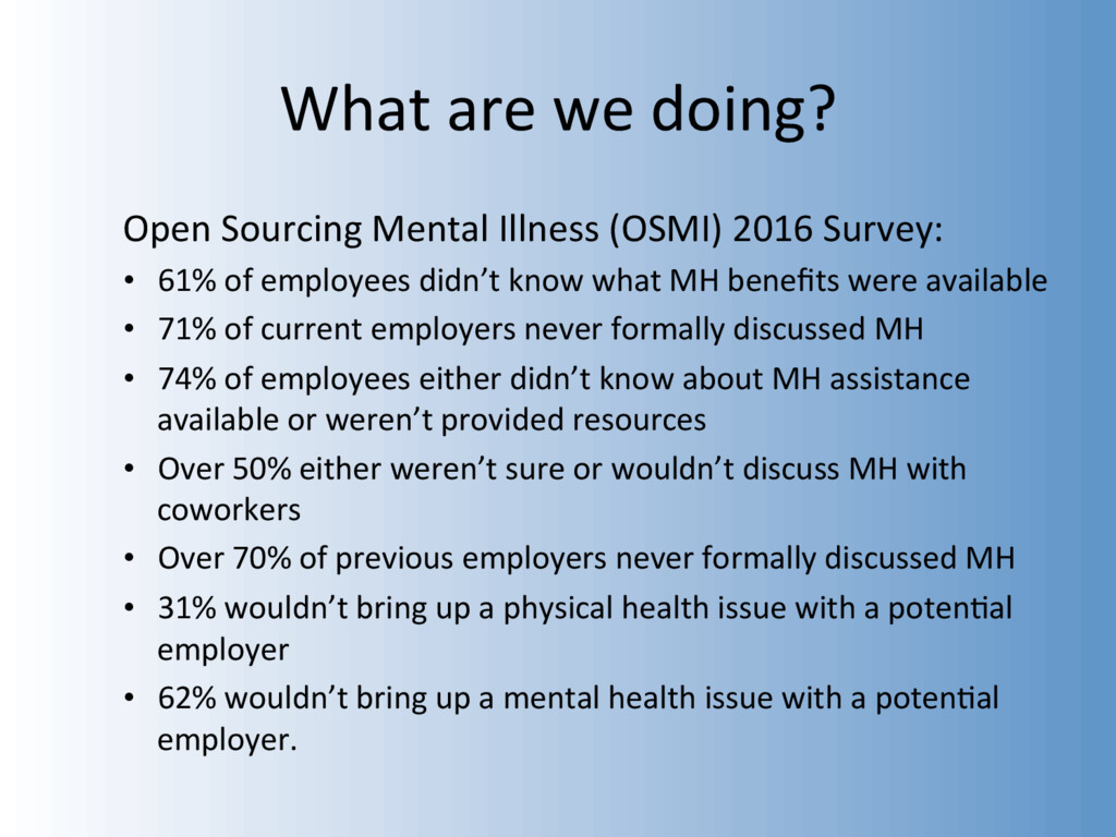 What are we doing? Open Sourcing Mental Illness...
