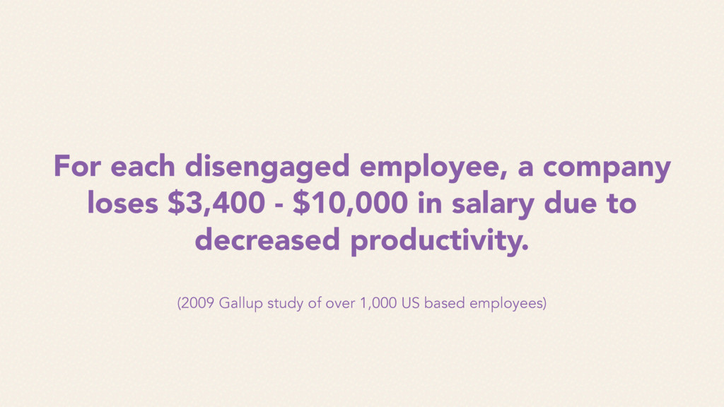 For each disengaged employee, a company loses $...
