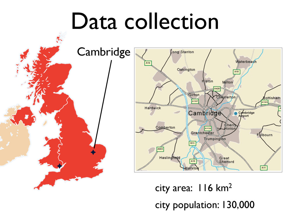 city area: 116 km2 Data collection Cambridge ci...