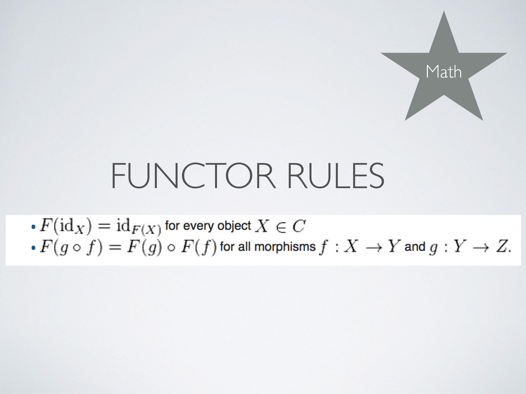 FUNCTOR RULES Math