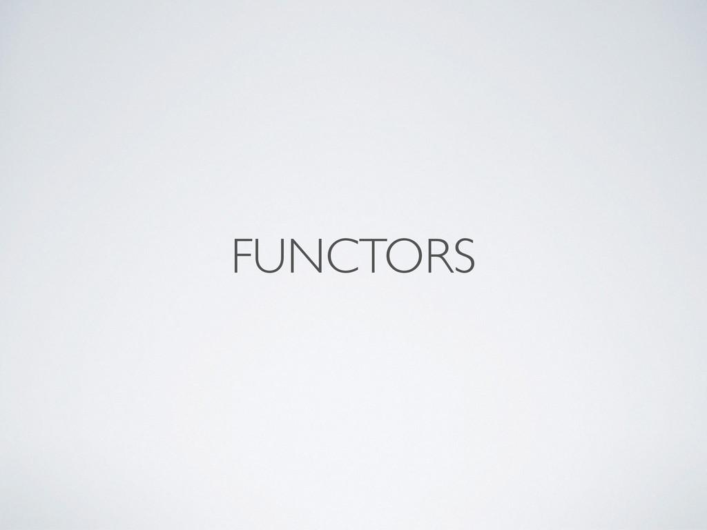 FUNCTORS