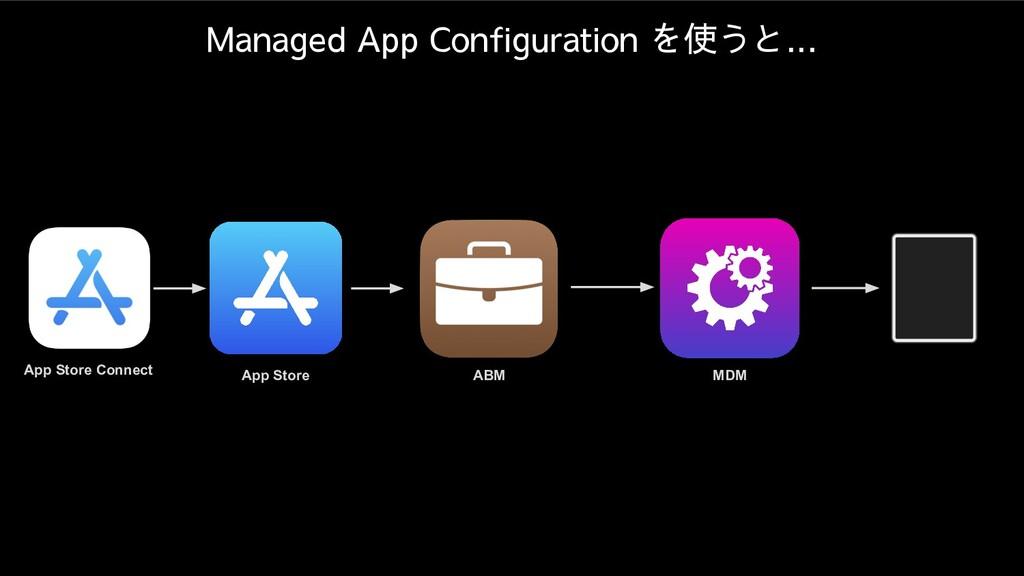 App Store Connect ABM MDM App Store Managed App...
