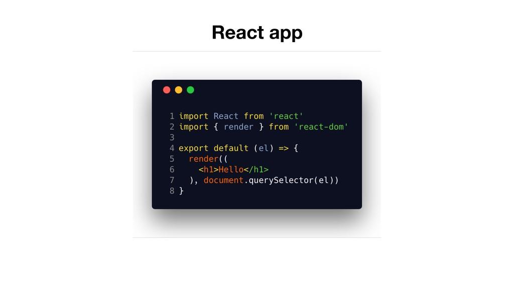 React app