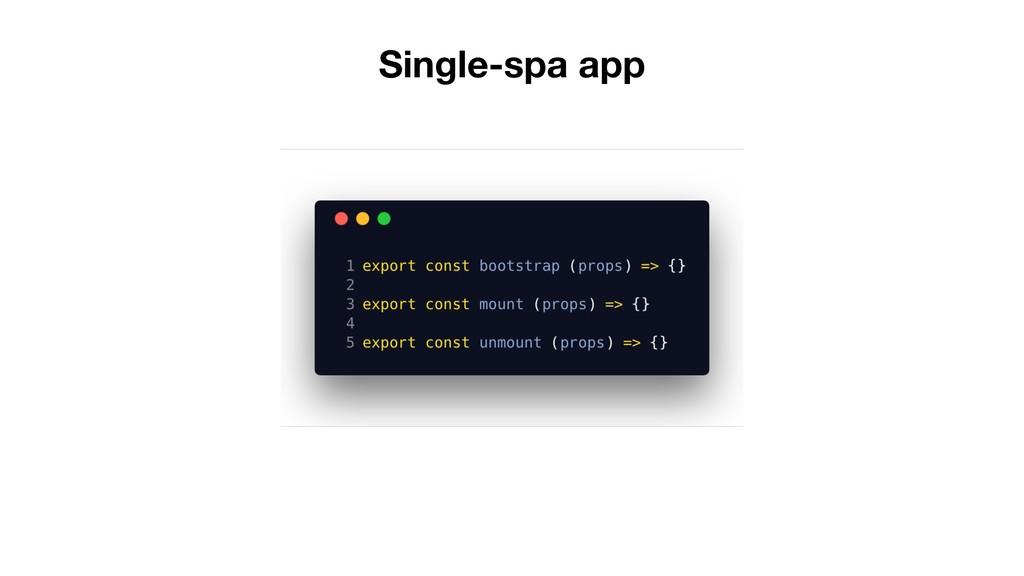 Single-spa app