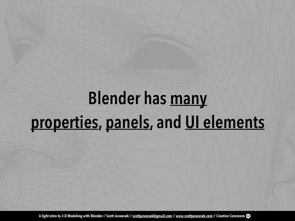 A light intro to 3-D Modeling with Blender // S...