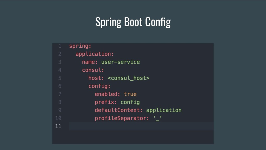 Spring Boot Config