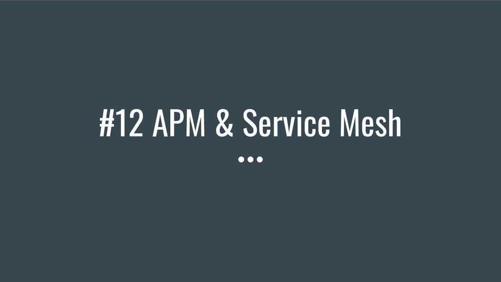 #12 APM & Service Mesh