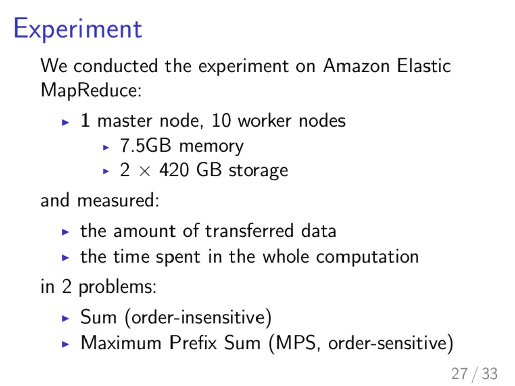 Experiment We conducted the experiment on Amazo...