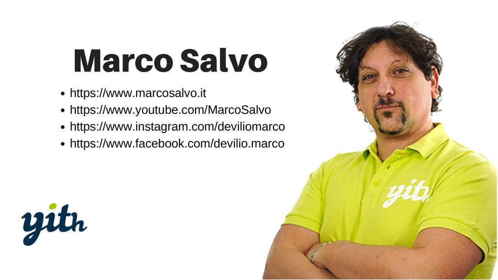 https://www.marcosalvo.it https://www.youtube.c...