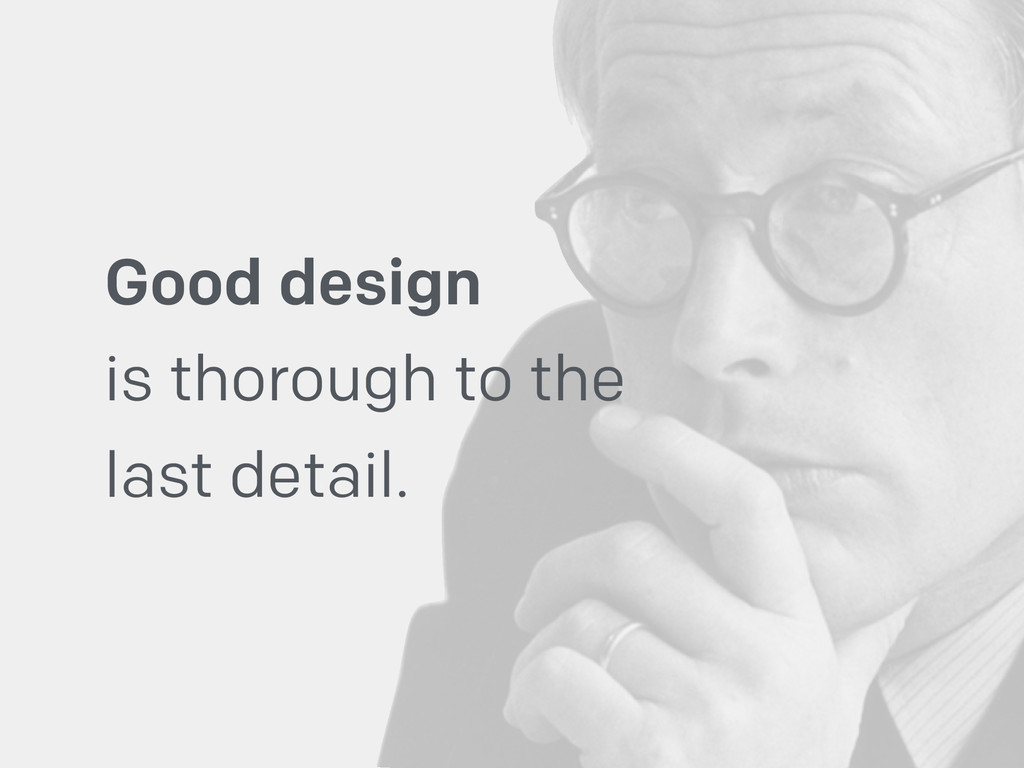 Good design 