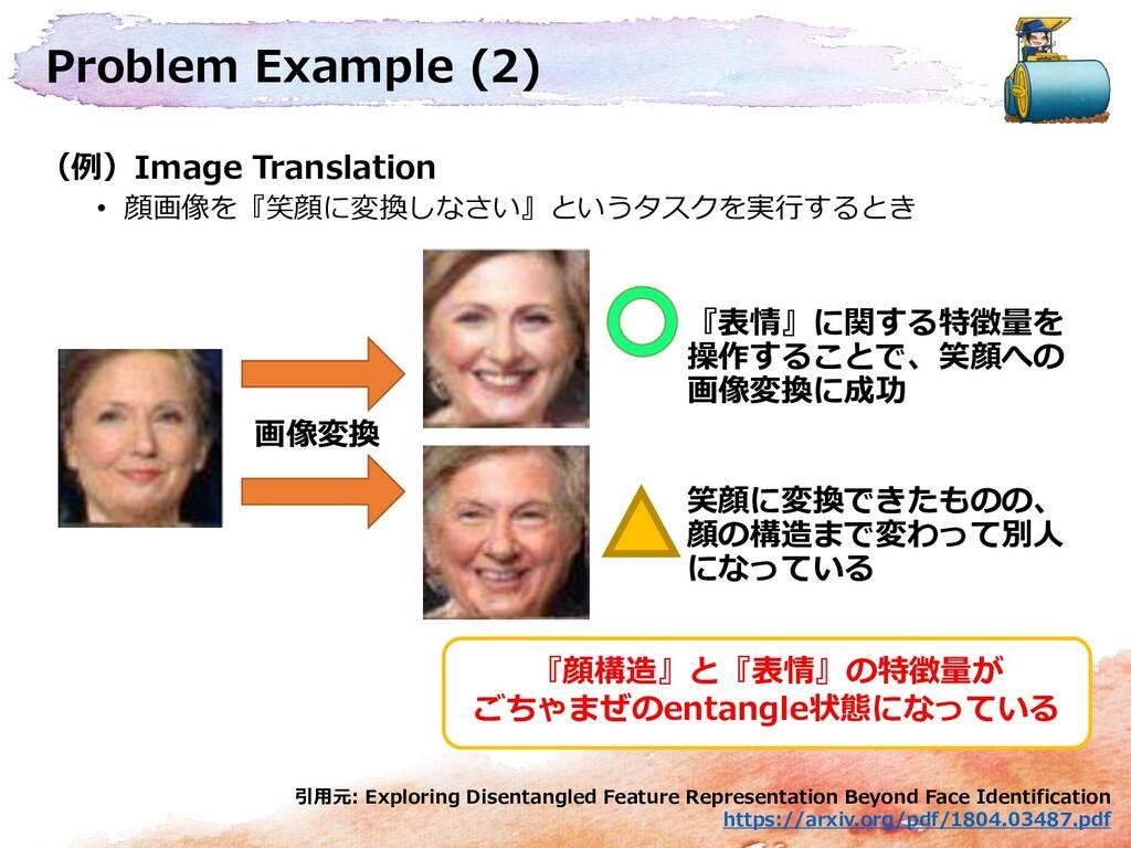 Problem Example (2) (例)Image Translation • 顔画像を...