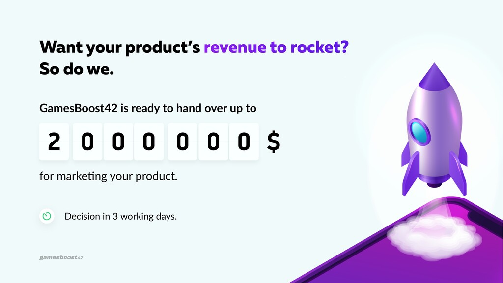 Want your product's revenue to rocket? So do we...