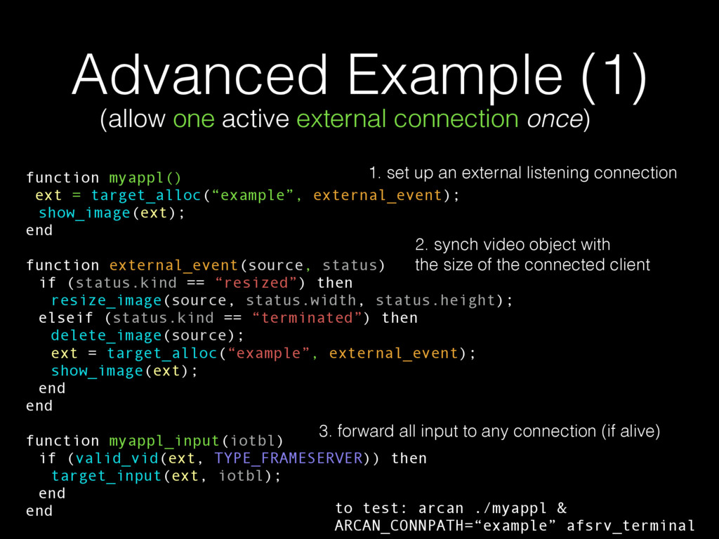 Advanced Example (1) (allow one active external...