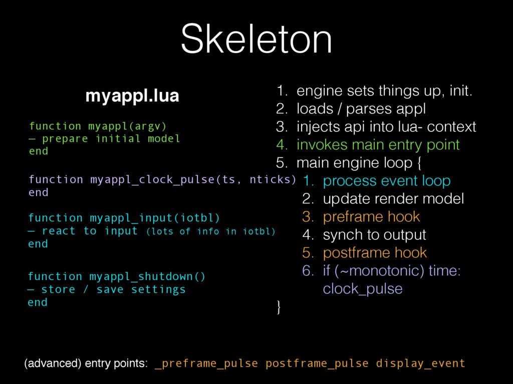 Skeleton function myappl(argv) — prepare initia...
