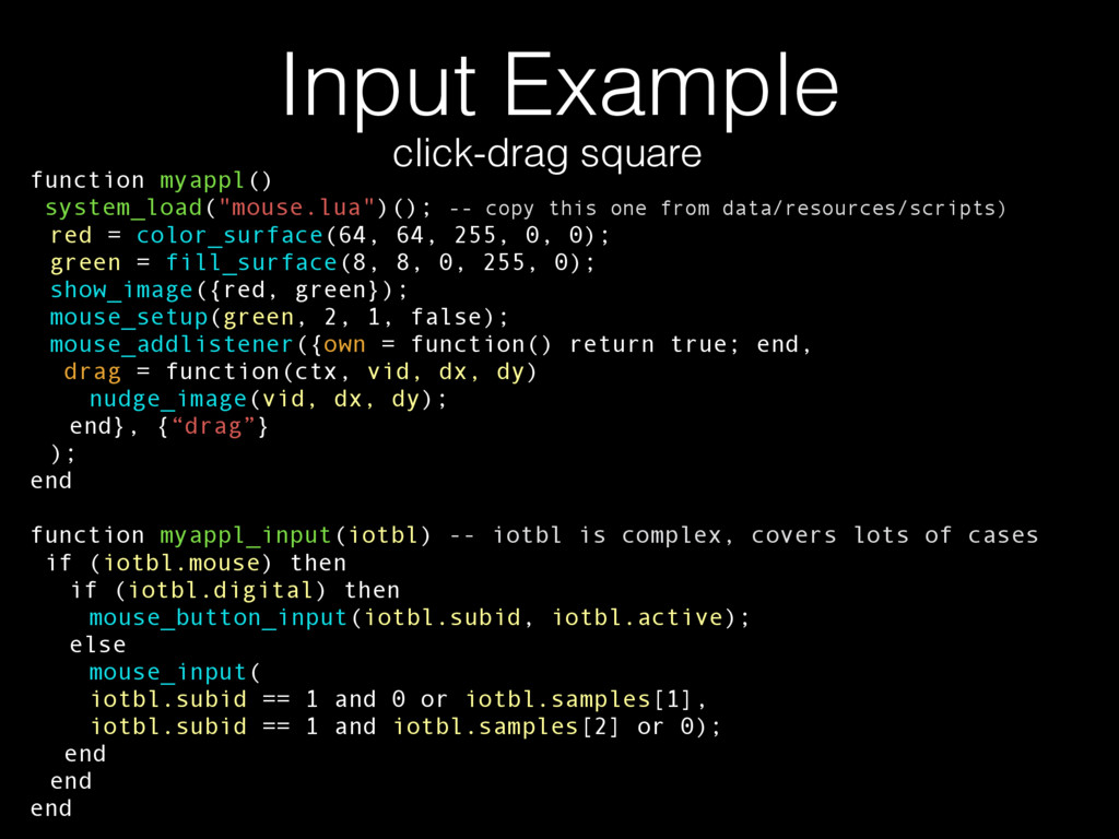 """Input Example function myappl() system_load(""""mo..."""