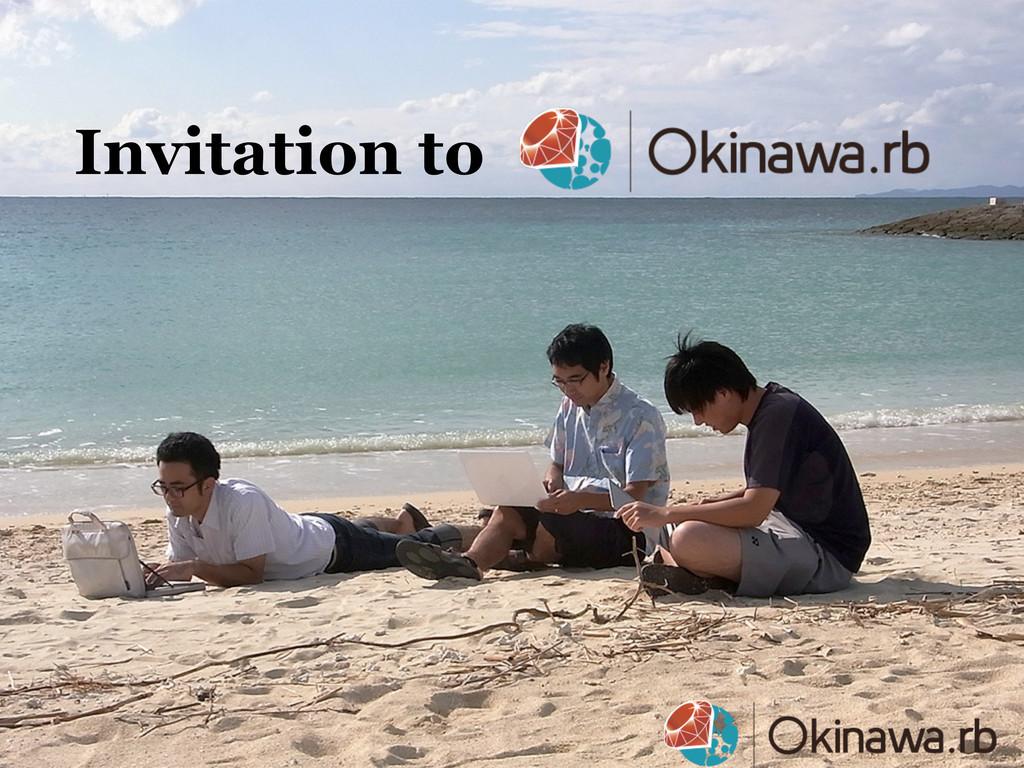 Invitation to ɹɹɹɹɹɹɹ