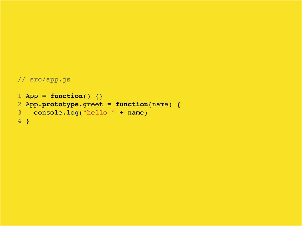 // src/app.js 1 App = function() {} 2 App.proto...