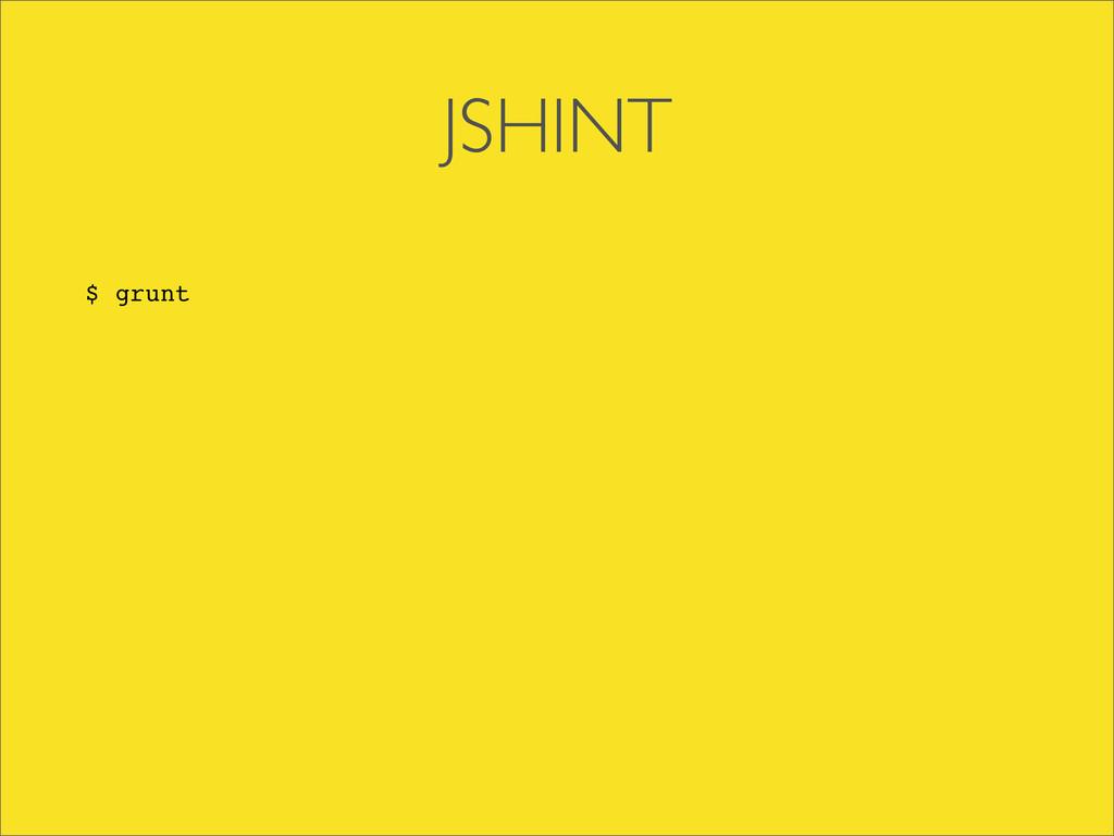 JSHINT $ grunt
