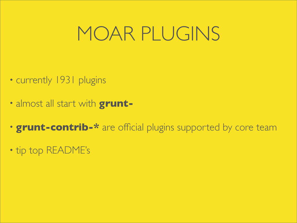 MOAR PLUGINS • currently 1931 plugins • almost ...