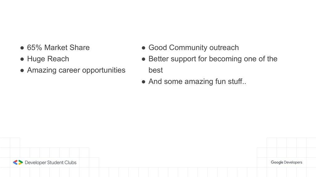 ● 65% Market Share ● Huge Reach ● Amazing caree...