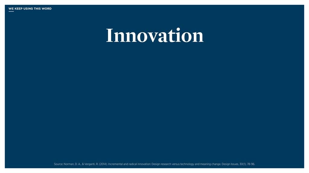 Innovation Source: Norman, D. A., & Verganti, R...