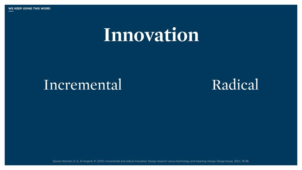 Radical Incremental Innovation Source: Norman, ...