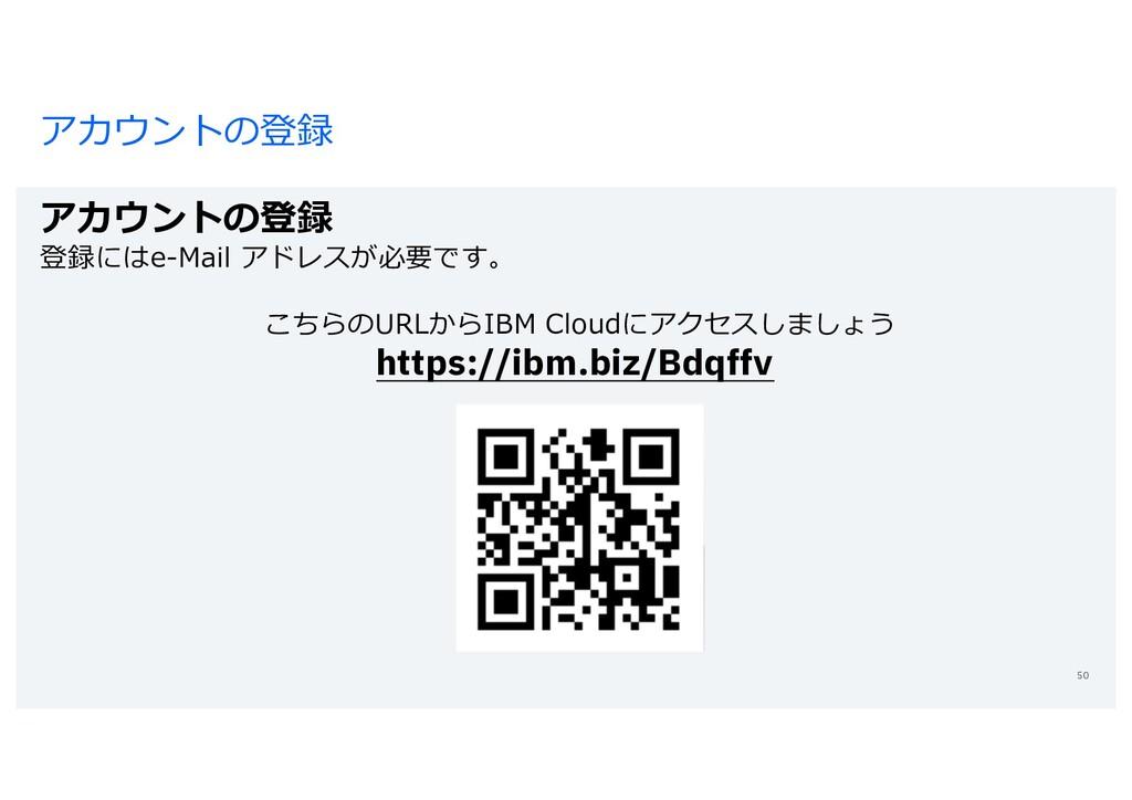 アカウントの登録 アカウントの登録 登録にはe-Mail アドレスが必要です。 こちらのURL...