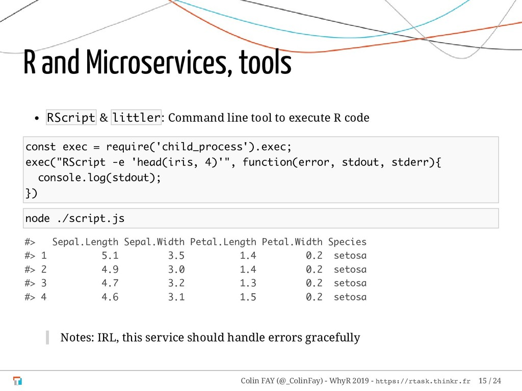 R and Microservices, tools RScript & littler: C...