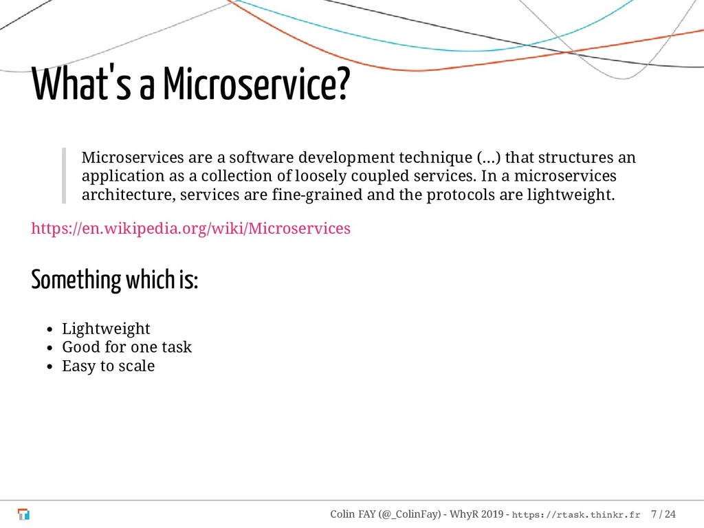 What's a Microservice? Microservices are a soft...