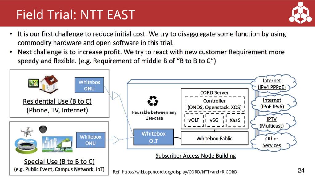 ● 24 Field Trial: NTT EAST Ref: https://wiki.op...