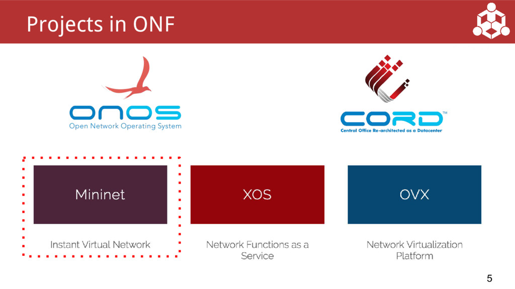 5 Projects in ONF