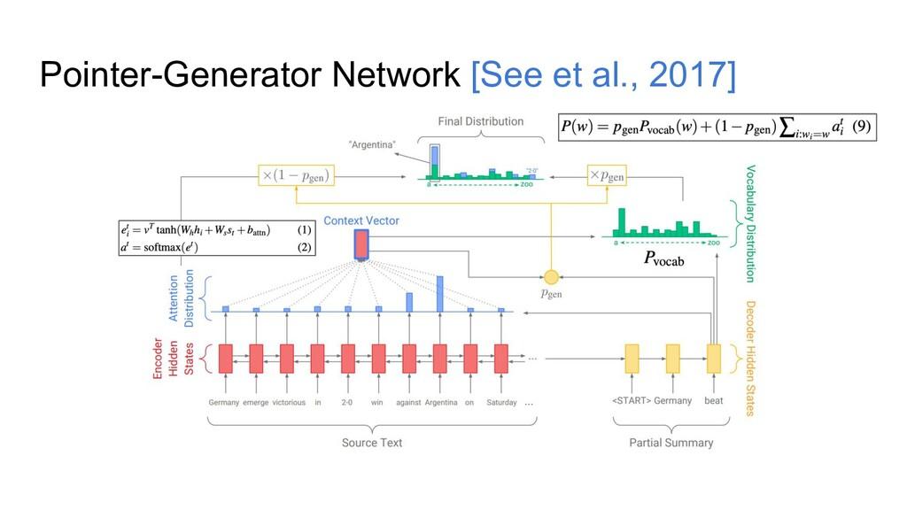 Pointer-Generator Network [See et al., 2017]