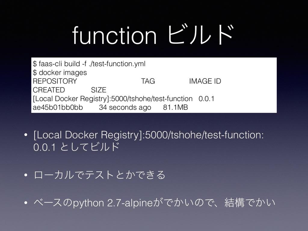 function Ϗϧυ • [Local Docker Registry]:5000/tsh...