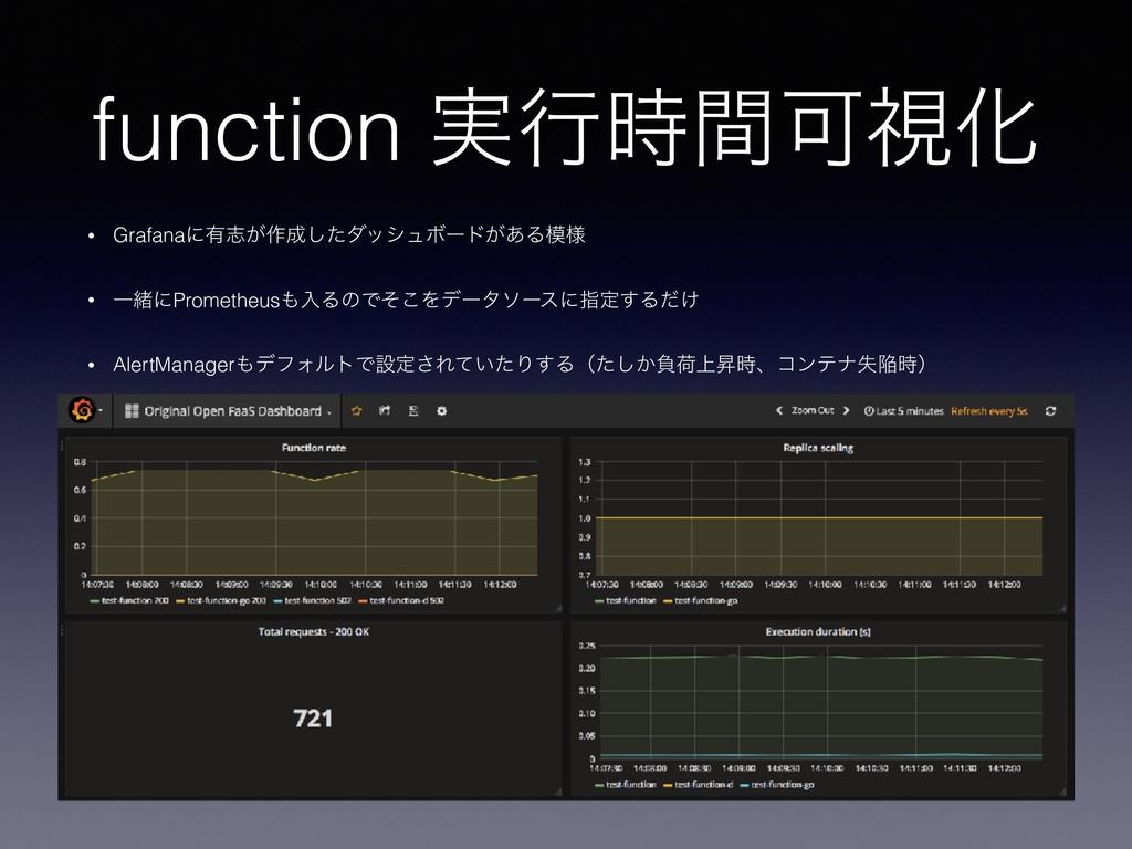 function ࣮ߦؒՄࢹԽ • Grafanaʹ༗ࢤ͕࡞ͨ͠μογϡϘʔυ͕͋Δ༷ ...