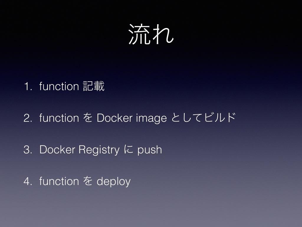 ྲྀΕ 1. function هࡌ 2. function Λ Docker image ͱ͠...