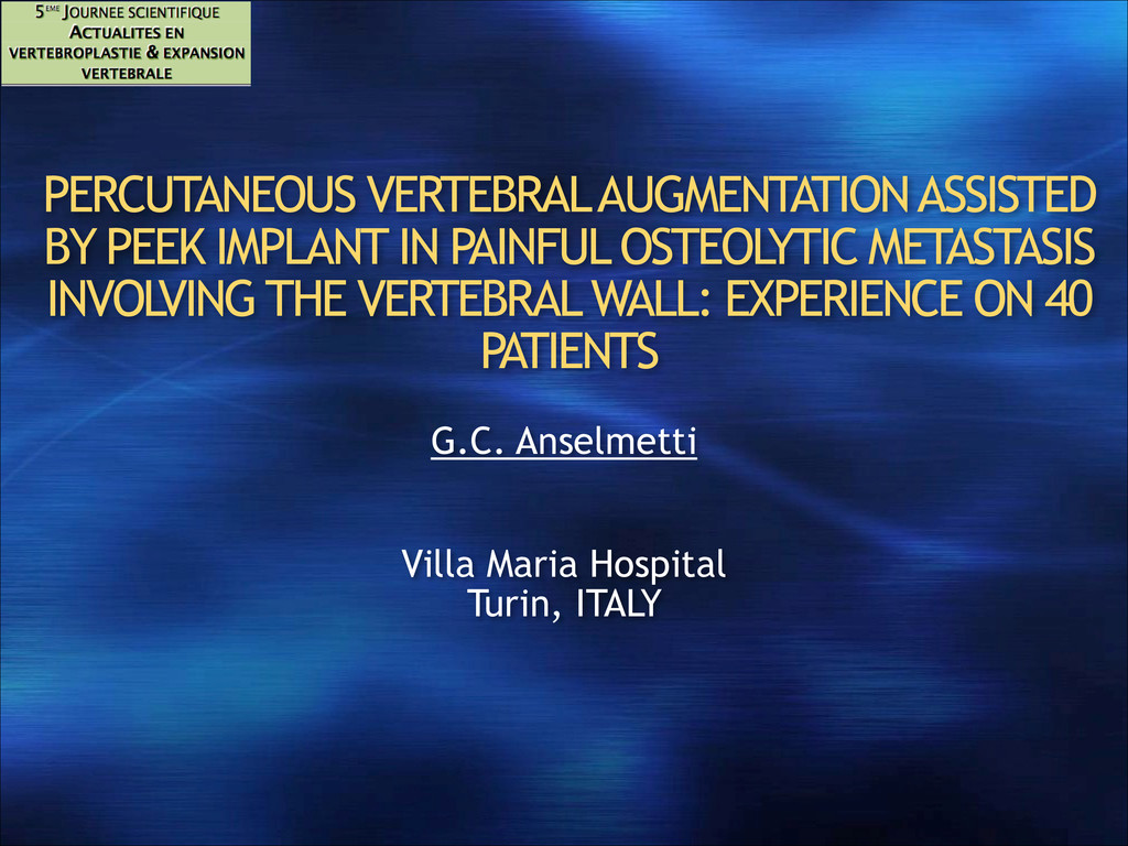 PERCUTANEOUS VERTEBRAL AUGMENTATION ASSISTED BY...