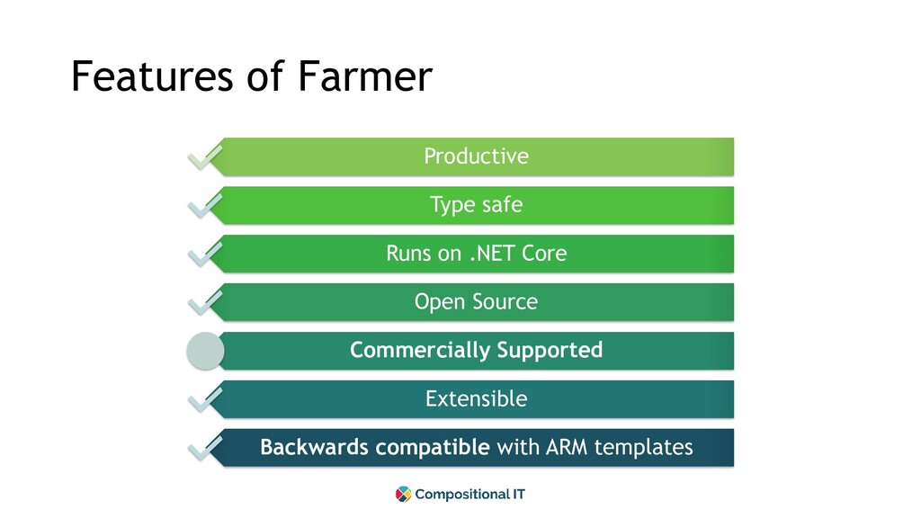 Features of Farmer Productive Type safe Runs on...