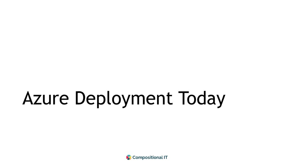 Azure Deployment Today