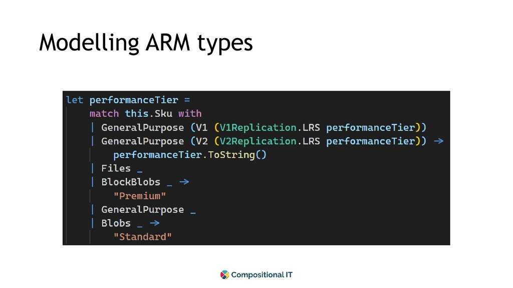 Modelling ARM types