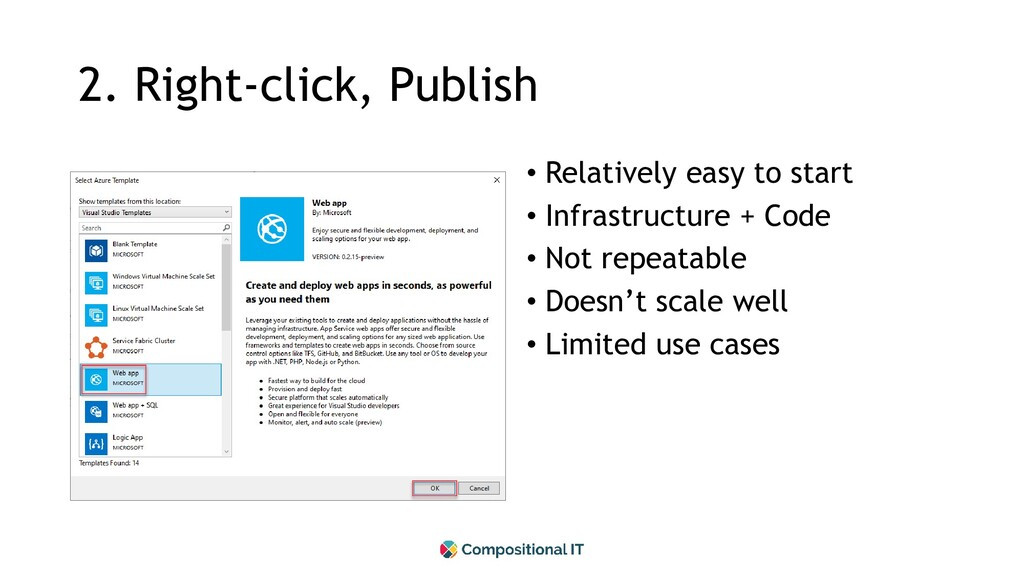2. Right-click, Publish • Relatively easy to st...