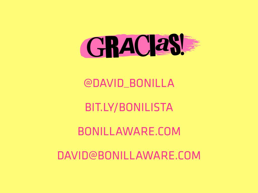 @DAVID_BONILLA BIT.LY/BONILISTA BONILLAWARE.COM...