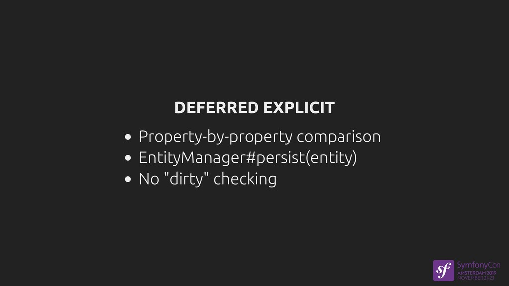 DEFERRED EXPLICIT Property-by-property comparis...