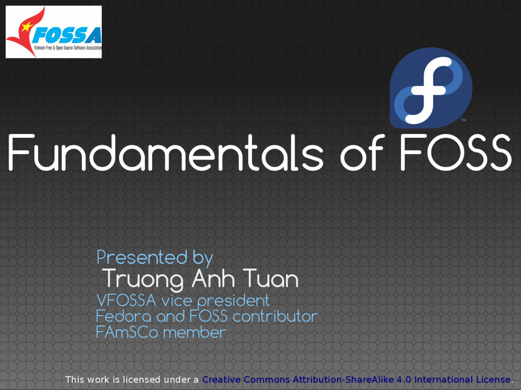 Truong Anh Tuan Presented by VFOSSA vice presid...