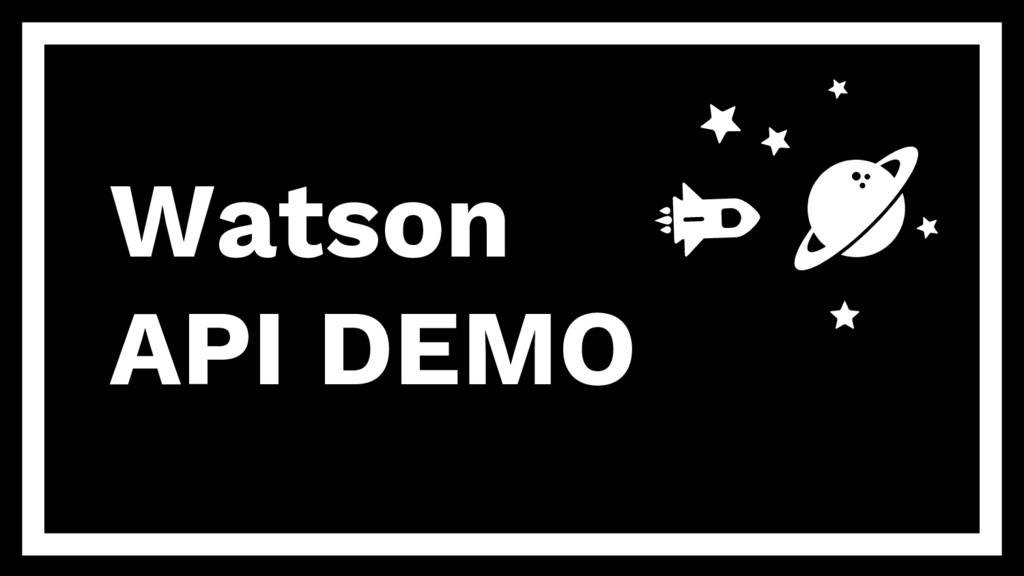 Watson API DEMO